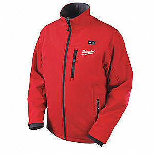 Men's Red M12® Heated Jacket Bare, Size: S, Battery Included:  No