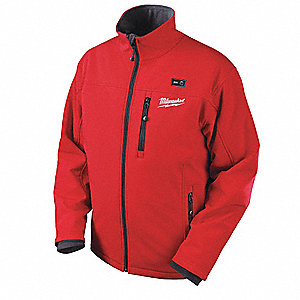 Men's Red M12® Heated Jacket Kit, Size: L, Battery Included:  2XKZ6