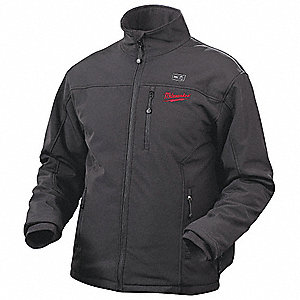 Men's Black M12® Heated Jacket Bare, Size: 2XL, Battery Included:  No