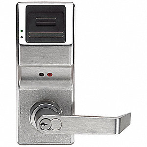 Electronic Keyless Lock, Entry with Key Override, Satin Chrome, Series PL3000