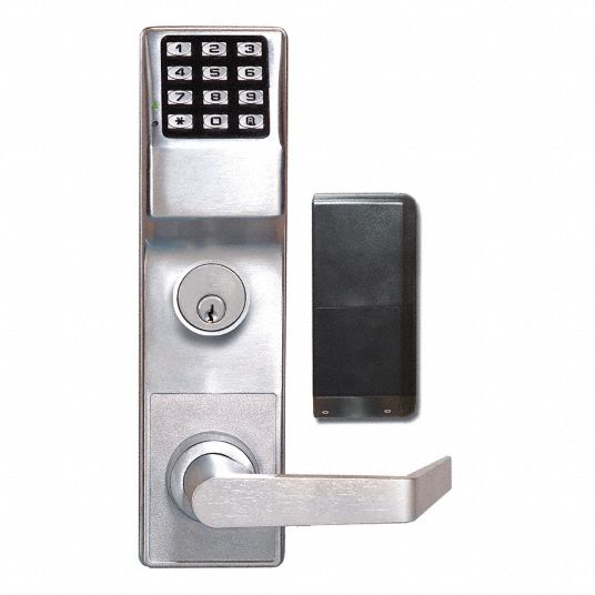 Electronic Keyless Exit Trim Lock, Von Duprin Exit Devices, Satin Chrome