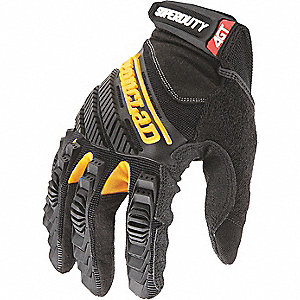 Mechanics Gloves,Utility,L,Blk/Ylw,PR