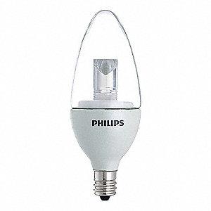 Philips Lampe Del 3 5w Candelabre 2700k Lampes Et Ampoules A Del