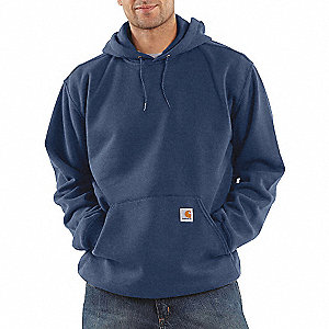 10.5 OZ HOOD/SWEATSHIRT, NAVY XL