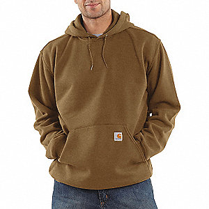 10.5 OZ HOOD/SWEATSHIRT BRN BOOT LT