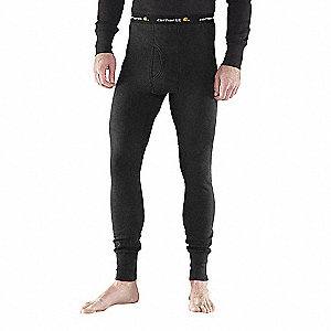COTTON THERMAL BOTTOM BLK 2XL