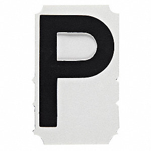 "Letter Label, P, Black, 6"" Character Height, 10 PK"