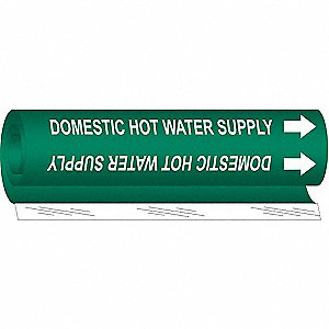 Pipe Marker,Domestic Hot Water Supply