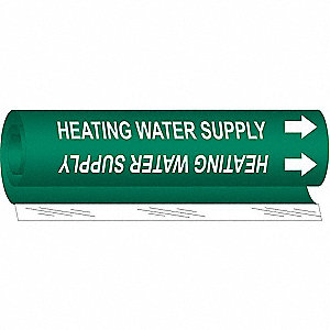 Pipe Marker, Heating Water Supply