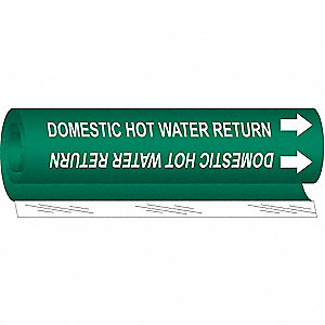 Pipe Marker,Domestic Hot Water Return