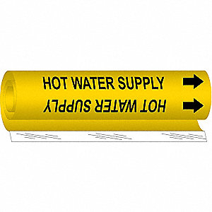 Pipe Marker,Hot Water Supply