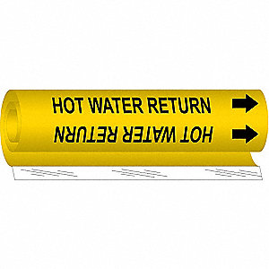 Pipe Marker, Hot Water Return