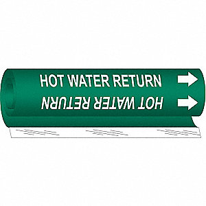 Pipe Marker,Hot Water Return