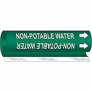 Pipe Marker,Non-Potable Water