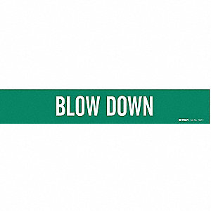 Pipe Marker, Blow Down