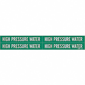 Pipe Marker, High Pressure Water