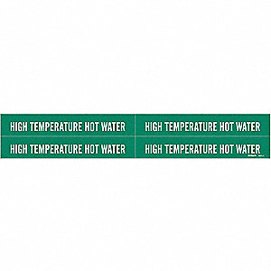 Pipe Marker, High Temperature Hot Water
