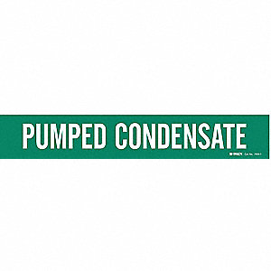 Pipe Marker,Pumped Condensate