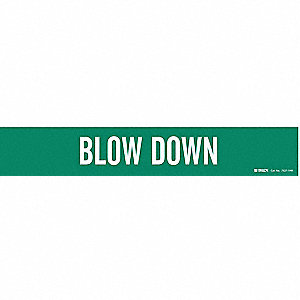 Pipe Marker,Blow Down