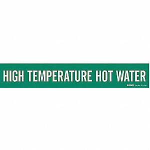 Pipe Marker,High Temperature Hot Water