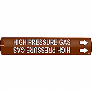 Pipe Marker, High Pressure Gas