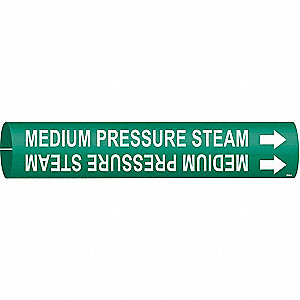 Pipe Marker,Medium Pressure Steam