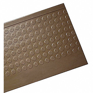 Dark Brown, Rubber Stair Tread Cover, Installation Method: Adhesive, Square  Edge Type