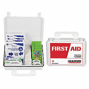 Heat Stress Kit, Kit, Plastic Case Material, Heat Stress, 10 People Served Per Kit