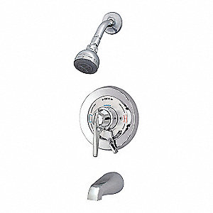 Temptrol Shower System,Br,Chr,7-13/32 in