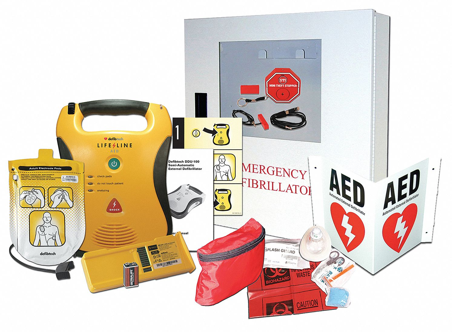 Semi-Automatic Lifeline AED Starter Kit, AHA Compliant