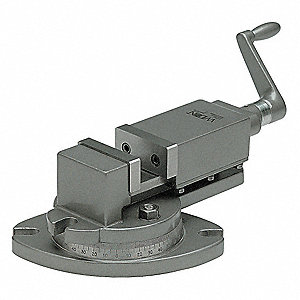 Milling Machine Vise,1-1/2 D,4 in Open