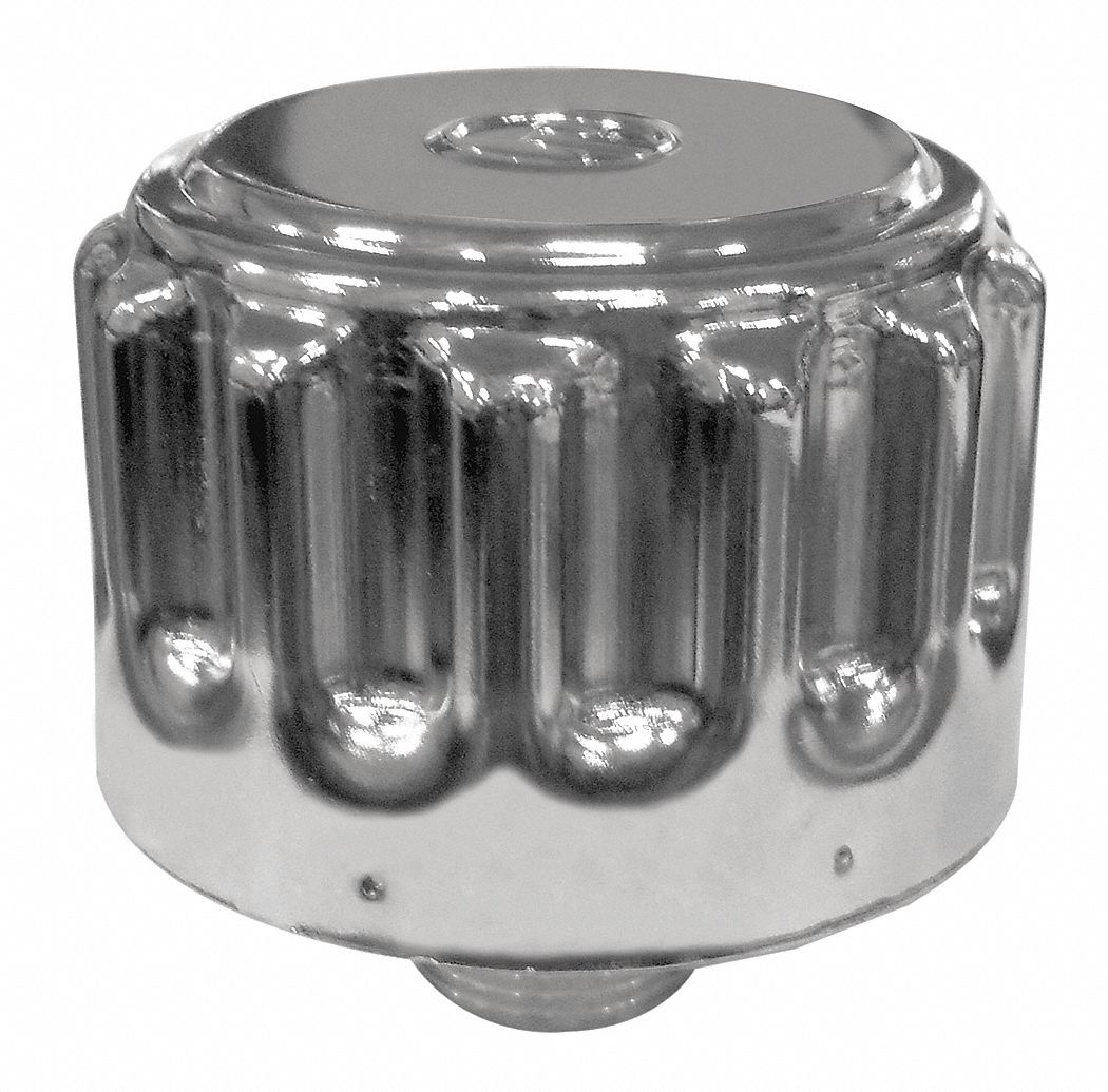 Reservoir Breather, Standard,  40 Micron Rating,  Nickel-Chrome-Plated Steel,  3.0 in Outside Dia.