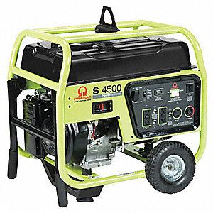 Portable Generator, 120/240VAC Voltage, 4200 Rated Watts, 4500 Surge Watts, 35/17 Amps @ 120/240V