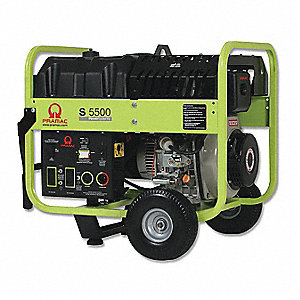 Portable Generator, 120/240VAC Voltage, 5000 Rated Watts, 5500 Surge Watts, 32/16 Amps @ 120/240V