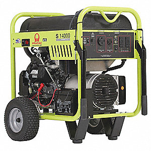Portable Generator, 120/240VAC Voltage, 11,700 Rated Watts, 14,000 Surge Watts, 98/58 Amps @ 120/240