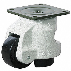 "2-1/2"" Plate Leveling Caster,1102 lb. Load Rating"