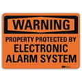 Warning Sign, 10x7 In., English