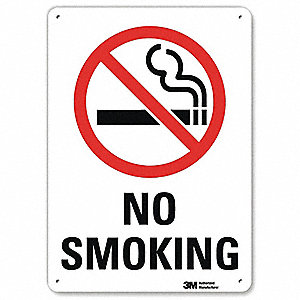 No Smoking Sign,10x7 In.,English