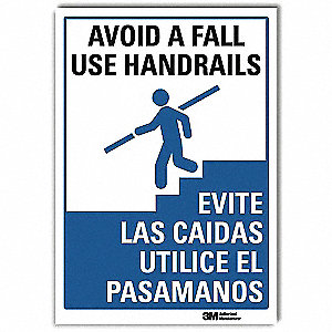 "Accident Prevention, No Header, Vinyl, 14"" x 10"", Adhesive Surface, Engineer"