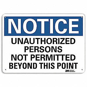 Notice Sign,10x7 In.,English