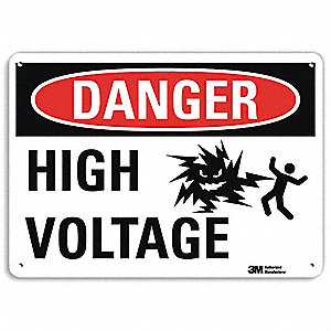 Danger Sign,14x10 In.,English