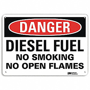 "No Smoking, Danger, Recycled Aluminum, 7"" x 10"", With Mounting Holes, Engineer"