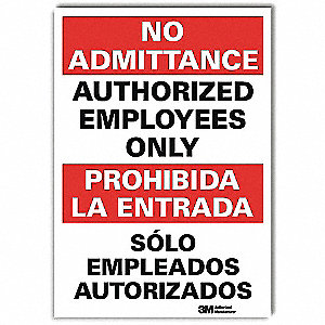 Safety Sign,14x10 In.,Bilingual