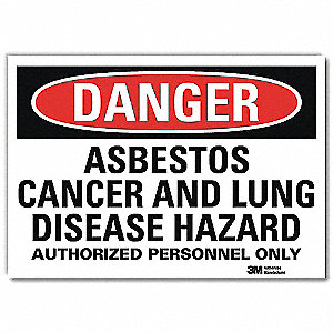 Danger Sign,10x7 In.,English