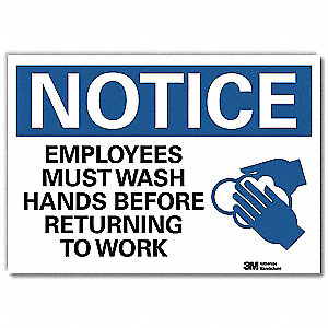 Notice Sign,14x10 In.,English