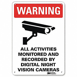 Warning Sign,10x7 In.,English