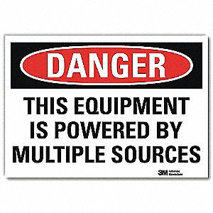 "Machine and Operational, Danger, 10"" x 7"", Adhesive Surface, Engineer"