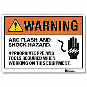 Warning Sign,14x10 In.,English