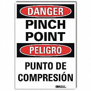 Danger Sign,10x7 In.,Bilingual