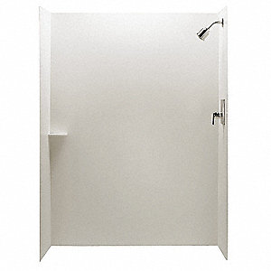 "36"" x 1/4"" x 96"" Flat Panel Acrylic Composite Tub/Shower Wall Set"